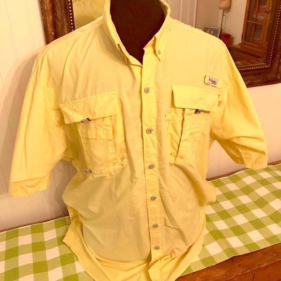 c1641d368e8 Columbia Shirts | Pfg Yellow Fishing Shirt Ss Mens Xlt Tall | Poshmark